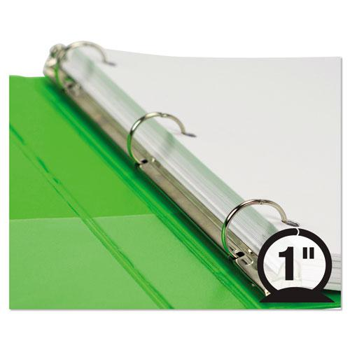 """Earth's Choice Biobased Durable Fashion View Binder, 3 Rings, 1"""" Capacity, 11 x 8.5, Lime, 2/Pack. Picture 5"""