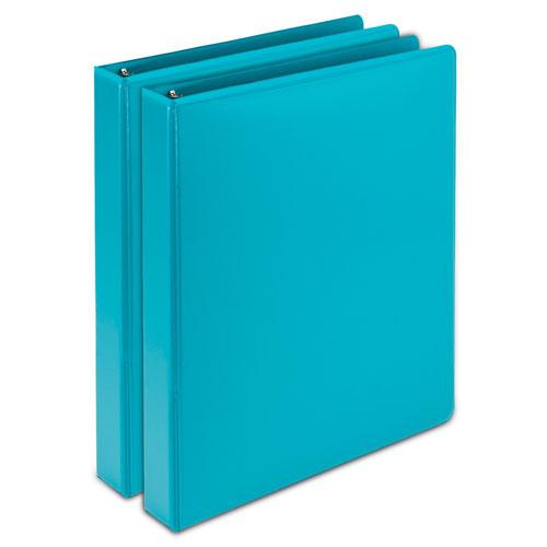 """Earth's Choice Biobased Durable Fashion View Binder, 3 Rings, 1"""" Capacity, 11 x 8.5, Turquoise, 2/Pack. Picture 1"""