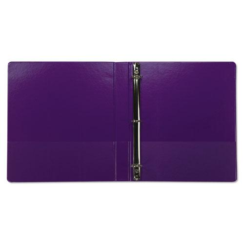 """Earth's Choice Biobased Durable Fashion View Binder, 3 Rings, 1"""" Capacity, 11 x 8.5, Purple, 2/Pack. Picture 2"""