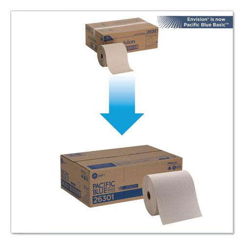 Pacific Blue Basic Nonperforated Paper Towels, 7 7/8 x 800 ft, Brown, 6 Rolls/CT. Picture 5