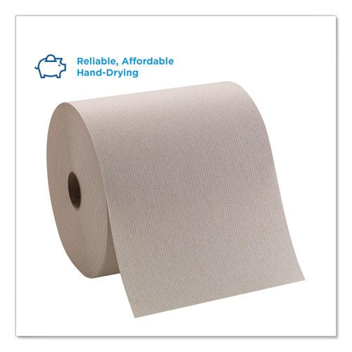 Pacific Blue Basic Nonperforated Paper Towels, 7 7/8 x 800 ft, Brown, 6 Rolls/CT. Picture 3