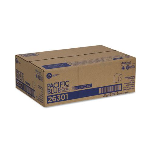 Pacific Blue Basic Nonperforated Paper Towels, 7 7/8 x 800 ft, Brown, 6 Rolls/CT. Picture 4