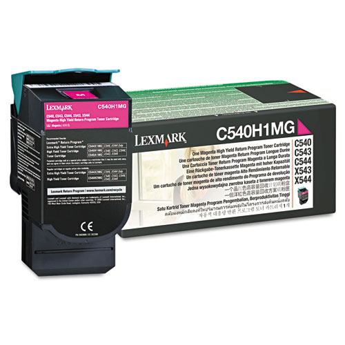 C540H1MG Return Program High-Yield Toner, 2,000 Page-Yield, Magenta. Picture 1