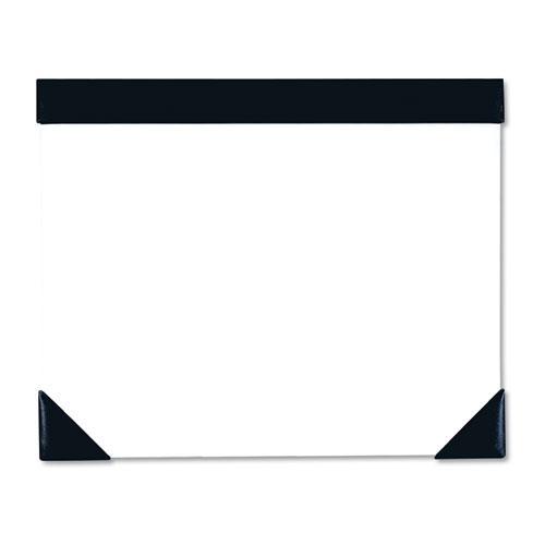 Executive Doodle Desk Pad, 25-Sheet White Pad, Refillable, 22 x 18, Black/Silver. Picture 1