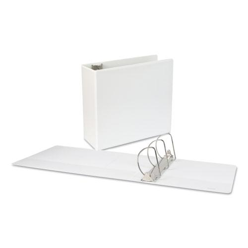 """Slant-Ring View Binder, 3 Rings, 5"""" Capacity, 11 x 8.5, White. Picture 1"""