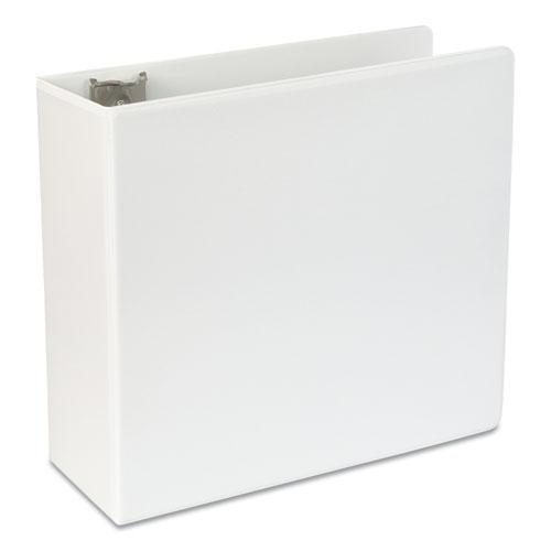 """Slant-Ring View Binder, 3 Rings, 5"""" Capacity, 11 x 8.5, White. Picture 2"""