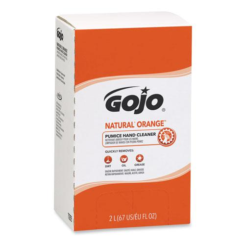 NATURAL ORANGE Pumice Hand Cleaner Refill, Citrus Scent, 2,000mL, 4/Carton. Picture 1