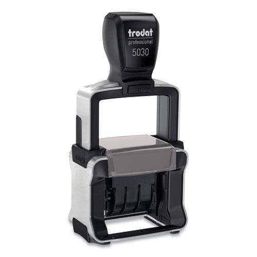 Trodat Professional Stamp, Dater, Self-Inking, 1 5/8 x 3/8, Black. Picture 1