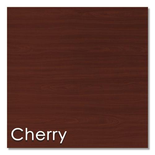 Study Carrell Starter Unit, 2-Leg, 31.25 x 23.5 x 45.25, Cherry. Picture 4