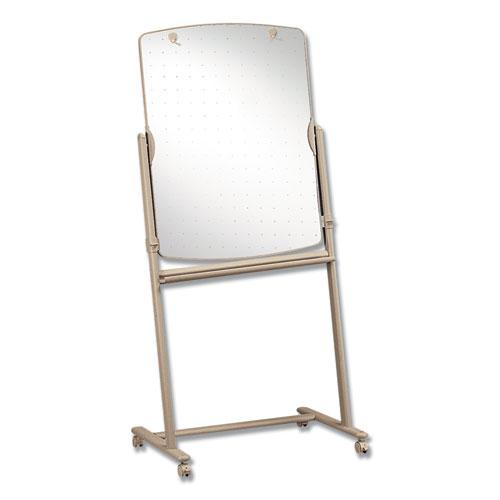 Total Erase Reversible Mobile Easel, 31 x 41, White Surface, Neutral Frame. Picture 2