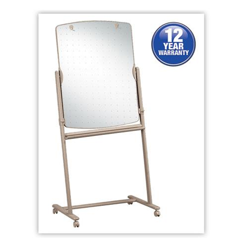 Total Erase Reversible Mobile Easel, 31 x 41, White Surface, Neutral Frame. Picture 1