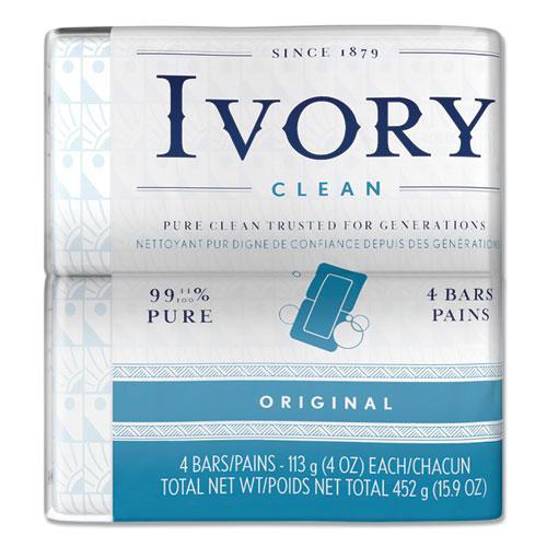 Bar Soap, Original Scent, 4 oz, 4/Pack, 18 Packs/Carton. Picture 1