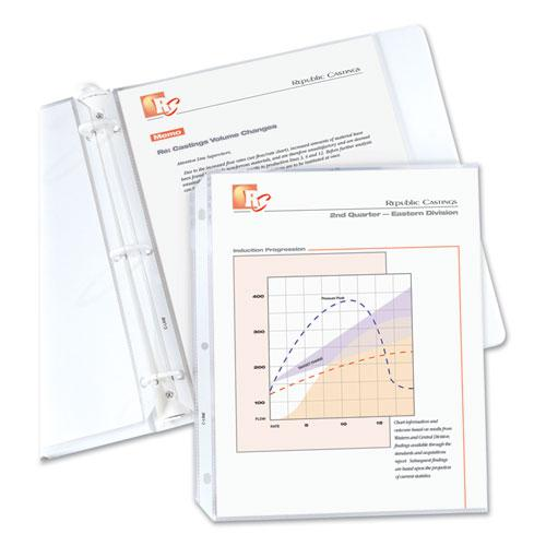 """Standard Weight Polypropylene Sheet Protectors, Non-Glare, 2"""", 11 x 8 1/2, 50/BX. Picture 1"""
