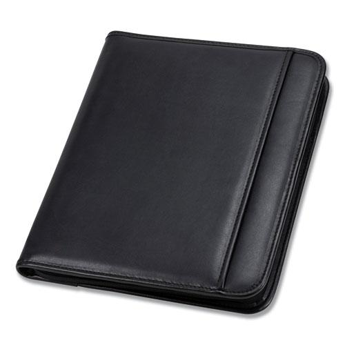 Professional Zippered Pad Holder, Pockets/Slots, Writing Pad, Black. Picture 5
