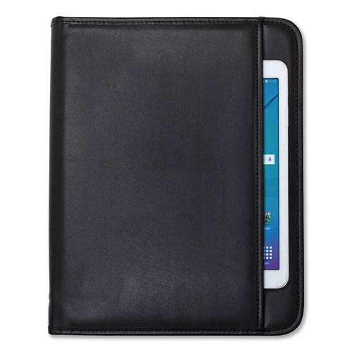 Professional Zippered Pad Holder, Pockets/Slots, Writing Pad, Black. Picture 3