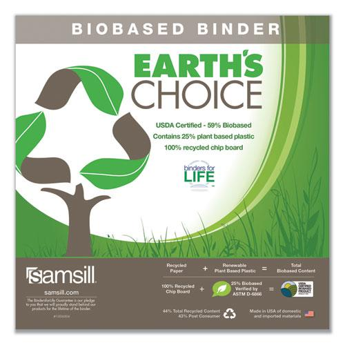 """Earth's Choice Biobased D-Ring View Binder, 3 Rings, 1.5"""" Capacity, 11 x 8.5, White. Picture 3"""