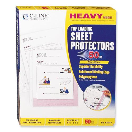 "Heavyweight Polypropylene Sheet Protectors, Non-Glare, 2"", 11 x 8 1/2, 50/BX. Picture 2"