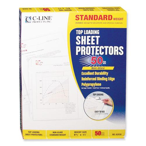 """Standard Weight Polypropylene Sheet Protectors, Non-Glare, 2"""", 11 x 8 1/2, 50/BX. Picture 4"""