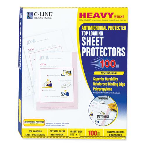 "Hvywt Poly Sht Protectors, Clear, Top-Loading, 2"", 11 x 8 1/2, 100/BX. Picture 5"