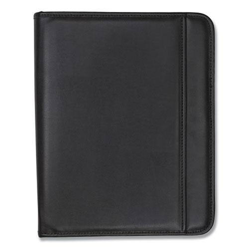 Professional Zippered Pad Holder, Pockets/Slots, Writing Pad, Black. Picture 6