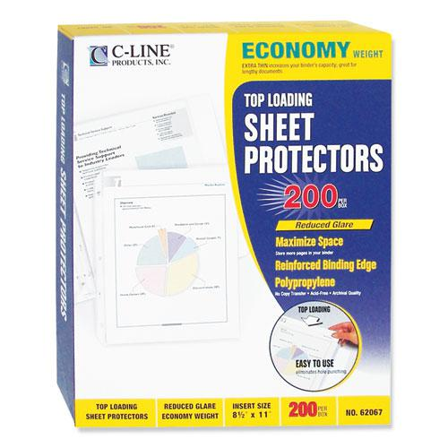 """Economy Weight Poly Sheet Protectors, Reduced Glare, 2"""", 11 x 8 1/2, 200/BX. Picture 5"""