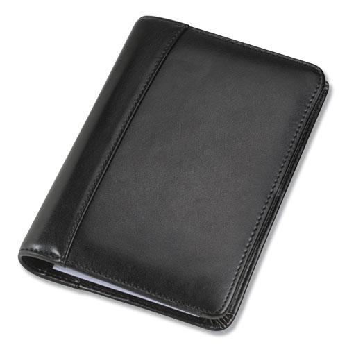 Regal Leather Business Card Binder, Holds 120 2 x 3.5 Cards, 5.75 x 7.75, Black. Picture 2