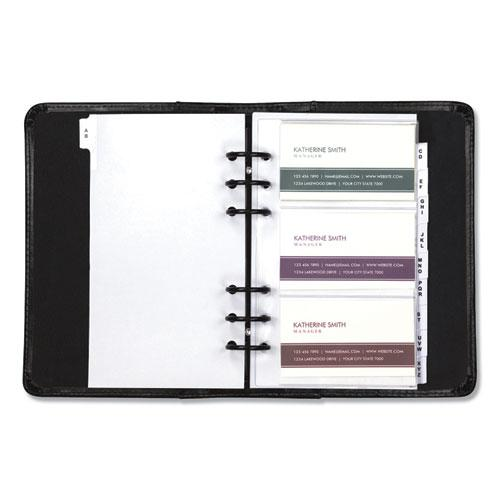 Regal Leather Business Card Binder, Holds 120 2 x 3.5 Cards, 5.75 x 7.75, Black. Picture 4