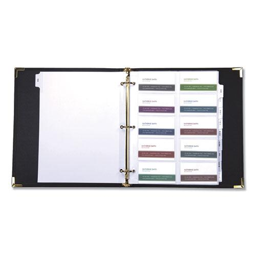 Classic Vinyl Business Card Binder, 200 Card Cap, 2 x 3 1/2 Cards, Ebony. Picture 2