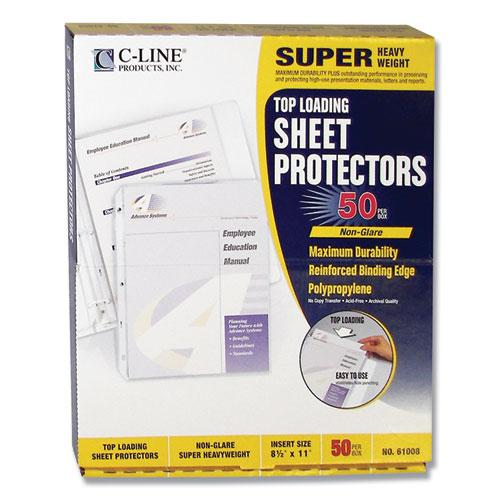 "Super Heavyweight Poly Sheet Protectors, Non-Glare, 2"", 11 x 8 1/2, 50/BX. Picture 5"