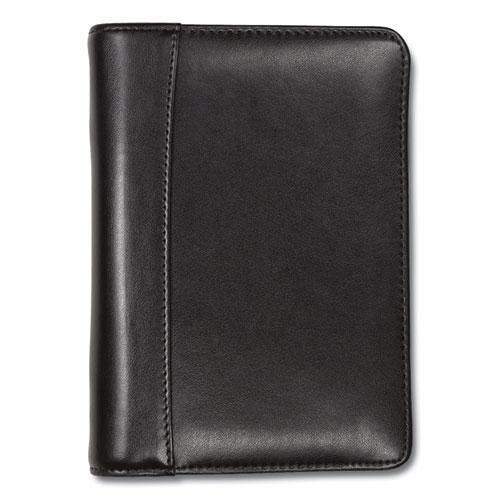 Regal Leather Business Card Binder, Holds 120 2 x 3.5 Cards, 5.75 x 7.75, Black. Picture 3