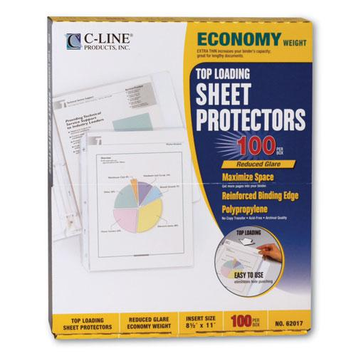 """Economy Weight Poly Sheet Protectors, Reduced Glare, 2"""", 11 x 8 1/2, 100/BX. Picture 5"""