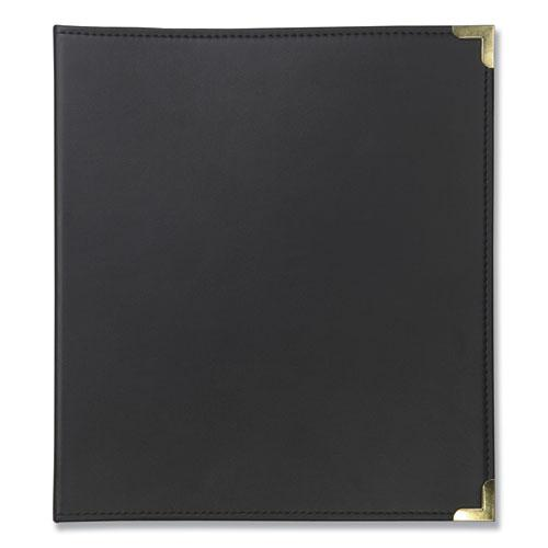 Classic Vinyl Business Card Binder, 200 Card Cap, 2 x 3 1/2 Cards, Ebony. Picture 4