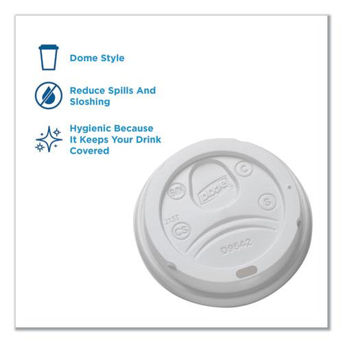 Reclosable Lids for 12 and 16 oz Hot Cups, White, 100 Lids/Pack, 10 Packs/Carton. Picture 7