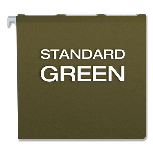 Ready-Tab Reinforced Hanging File Folders, Legal Size, 1/6-Cut Tab, Standard Green, 25/Box. Picture 5