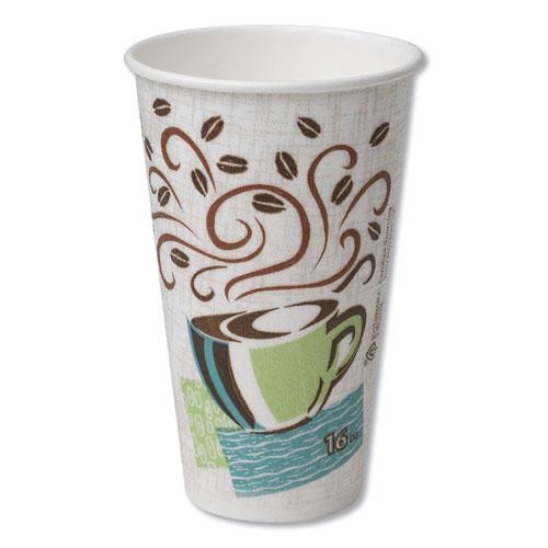 Hot Cups, Paper, 16oz, Coffee Dreams Design, 500/Carton. Picture 1