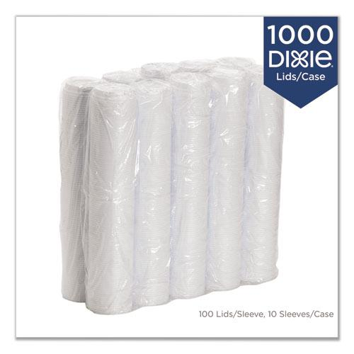 Reclosable Lids for 12 and 16 oz Hot Cups, White, 100 Lids/Pack, 10 Packs/Carton. Picture 6