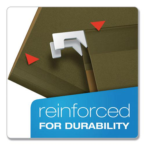 Ready-Tab Reinforced Hanging File Folders, Legal Size, 1/6-Cut Tab, Standard Green, 25/Box. Picture 4