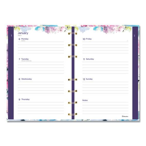 MiracleBind Weekly/Monthly Planner, 8 x 5, Floral, 2021. Picture 2