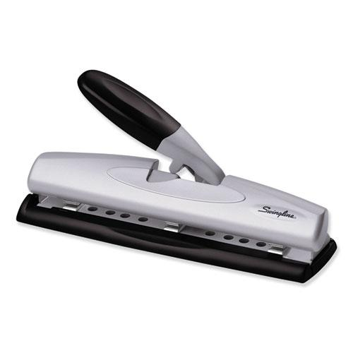 """12-Sheet LightTouch Desktop Two-to-Three-Hole Punch, 9/32"""" Holes, Black/Silver. Picture 3"""