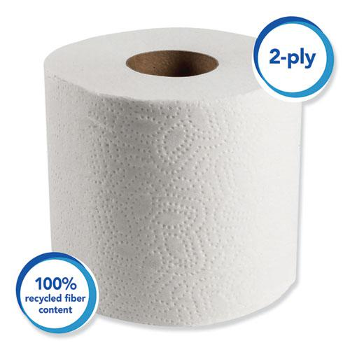 Essential 100% Recycled Fiber SRB Bathroom Tissue, Septic Safe, 2-Ply, White, 506 Sheets/Roll, 80 Rolls/Carton. Picture 5