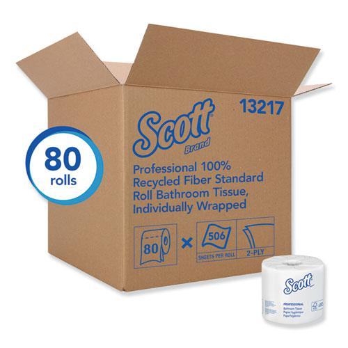 Essential 100% Recycled Fiber SRB Bathroom Tissue, Septic Safe, 2-Ply, White, 506 Sheets/Roll, 80 Rolls/Carton. Picture 4