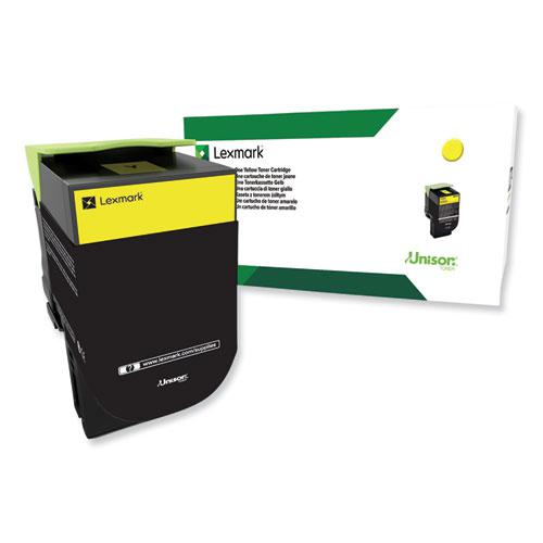80C0HYG Return Program High-Yield Toner, 3,000 Page-Yield, Yellow, TAA Compliant. Picture 1