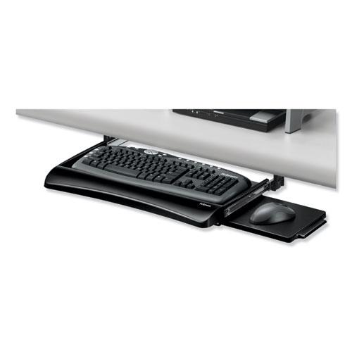 Office Suites Underdesk Keyboard Drawer, 20.13w x 7.75d, Black. Picture 4