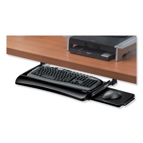 Office Suites Underdesk Keyboard Drawer, 20.13w x 7.75d, Black. Picture 2