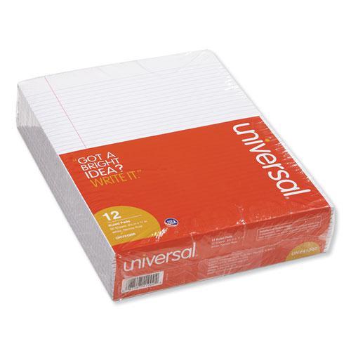 Glue Top Pads, Narrow Rule, 8.5 x 11, White, 50 Sheets, Dozen. Picture 1