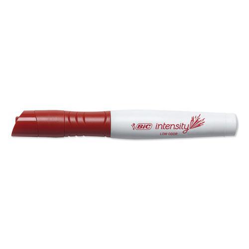 Intensity Low Odor Dry Erase Marker, XL Bullet Tip, Red, Dozen. Picture 2