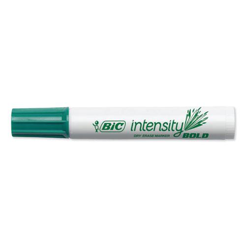 Intensity Bold Tank-Style Dry Erase Marker, Broad Chisel Tip, Green, Dozen. Picture 4