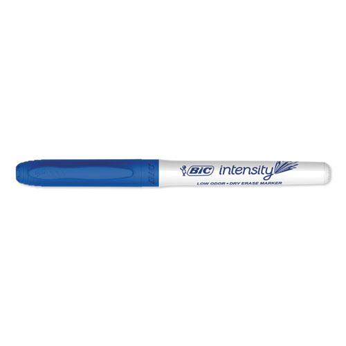 Intensity Low Odor Dry Erase Marker, Fine Bullet Tip, Blue, Dozen. Picture 2