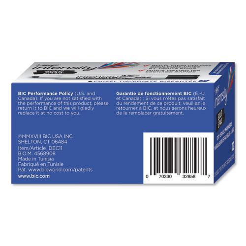 Intensity Bold Tank-Style Dry Erase Marker, Broad Chisel Tip, Black, Dozen. Picture 2