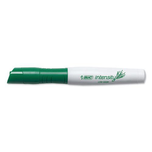 Intensity Low Odor Dry Erase Marker, Broad Chisel Tip, Green, Dozen. Picture 3